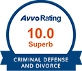 Avvo 10.0 Superb Criminal Defense and Divorce